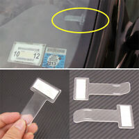 Parking Ticket Holder Car Park Vehicle Windscreen Clip Work Pass Permit,Plastic