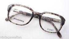 Vintage Brillen eckig Gestell Männer Nerd oldschool Flexbügel graubraun Grösse M