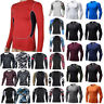 Men Compression Under Thermal Shirt Base Layer Sport Top Long Sleeve Gym Skinny