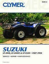 New CLYMER MANUAL SUZUKI LTF 250 87-98 REPAIR Maintenance ATV