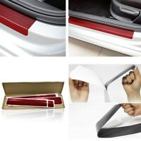 4x Scratch Anti-kick Car door Plate Door Step Sill Scuff Plate 3D Red Universal