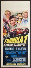 FORMULA 1 NELL'INFERNO DEL GRAND PRIX Locandina Cinema Movie Poster Auto 1970