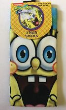 Boys Socks with Spongebob detail. Larger size 4-8