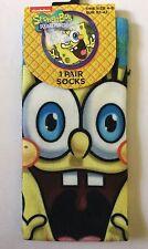 Boys Socks with Spongebob detail. Larger size 4-8