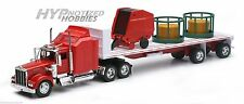 NEWRAY 1:32  KENWORTH W900 LONG HAULER W/ROUND HEY & HEY FEEDER SS-10363