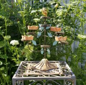 Floral Toleware Tiered Votive Candle Holder Cottage French Country Shabby Chic