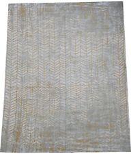 Louis De Poortere Mad Men contemporary rug made in Belgium in gold 11 x 8 FT
