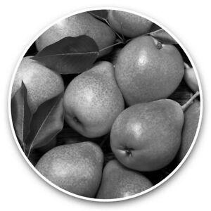 2 x Vinyl Stickers 30cm (bw) - Pear Fruit Food Healthy Living  #36455