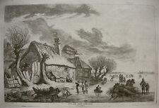 WEIROTTER `BEI ANTWERPEN; VILLAGE PRÈS D'ANVERS´ GROSSE RADIEUNG, W. 80, ~1760