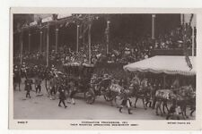 Coronation Procession 1911 Approaching Westminster Abbey RP Postcard 596a