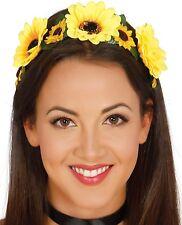 da donna gialle SOLE floreale hippy anni 60 FASCIA CAPELLI FESTIVAL Costume