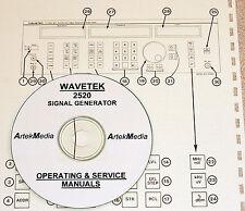 Wavetek 2520 Operating & Service Manuals ( 2 volumes)