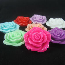 100pcs Large Rose 42mm Resin Flower with Hole Chunky Necklace Beads Wholesale