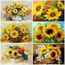 DIY Painting By Numbers Kits Sunflowers Abstract Modern Home Wall Paint Pictures