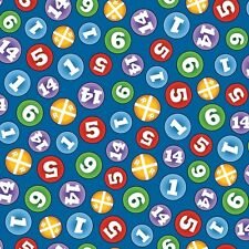 Fat Quarter Thomas The Tank Engine The Color Express Numbers (B) Quilting Fabric