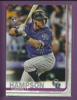 Garrett Hampson RC 2019 Topps Series 1 Rookie Card # 85 Colorado Rockies MLB