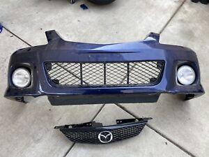 02-03 Front Bumper Hatchback Protege5 Fits MAZDA PROTEGE BLUE W/Grille