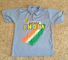 Sahara India Men's Cricket Team Polo Lightweight 100% Polyester Blue SZ M