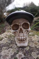 SK237 B  TETE MORT  FIGURINE  CRANE  CASQUE  VELO  HEROIC FANTASY  GOTHIQUE NOIR