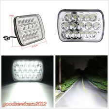 """DC12V 45W 7""""X6'' 15LED HID Light High/Low Beam H4 Crystal Clear Headlight White"""