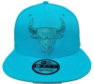 New Era 9Fifty Chicago Bulls Aqua Monochrome Snapback (60114288)