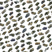 Rubicon tanks and military vehicles model kits in 1/56 scale (55 models)