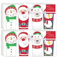 8 x Assorted Hanging Treat Box Christmas Tree Decorations Festive Seasonal Party