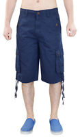 True Face Mens New Cargo Combat Shorts Casual Cotton Chino Micro Fabric Pants