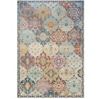 Multicoloured Living Room Rugs Moroccan Mosaic Patchwork Oriental Runner Mats