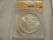1882 CC Morgan Dollar , MS 62 , Anacs Certified