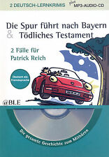 2 Deutsch Lernkrimis + La oveja megra + plus MP3 Audio CD + Lesen + Hören +