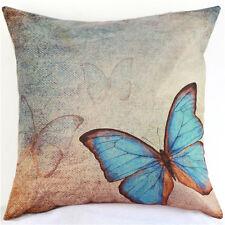 Butterfly Cotton Owl Linen Pillow Case Sofa Throw Cushion Cover Home Decor ATAU