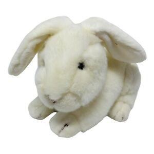 "Russ Berrie Plush Bounder White Rabbit Soft Washable Stuffed Animal Bunny 9 1/2"""