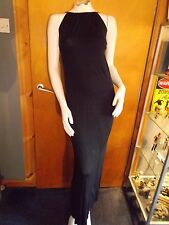 Rolla Coster Tie Strappy Stretch Maxi Dress M 8-10 Black BNWoT