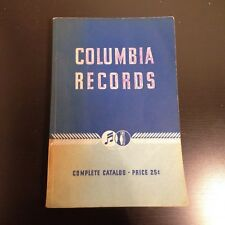Vintage 1939 COLUMBIA RECORDS 78 RPM Paperback Catalogue/Catalog