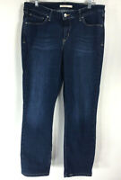Levis Mid Rise Skinny Jeans size 32 / 14S Dark Wash Inseam 27 Denim Blue Stretch