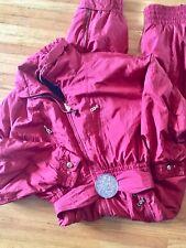 Women's Vintage BOGNER Deep Red Size 12 Snowsuit