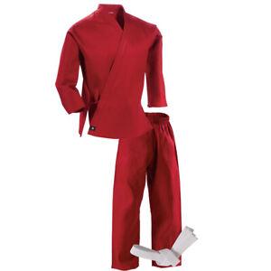 Century Kid's 6 oz. Lightweight Student Uniform with Elastic Pants - Red