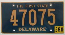 Delaware 1980 License Plate HIGH QUALITY # 47075