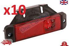 10x LED Luces De Posición Lateral Contorno Rojo camión remolque corona Volquete soporte de Bus