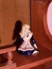 Alice In wonderland Ceramic Figurine Antique Rare!