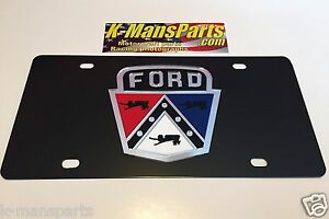 Ford Retro old emblem 1950s carbon stainless steel vanity license plate tag F150