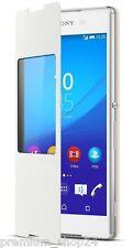 Sony Scr30 Portefeuille Style Jusqu'à Fenêtre Housse pour Xperia Z3 Plus Blanc