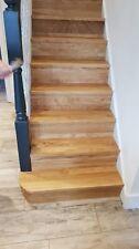 Set Of 13-Left SideCurved  Bullnose Solid Oak Stair Cladding   - 100% WHITE OAK