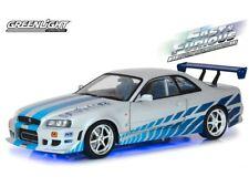 Greenlight 1:18 Fast & Furious 1999 Nissan Skyline GT-R R34 Neon Lights 19041