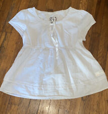 Odd Molly cream swing baby doll shirt peasant Sz 2 Embroidered Back