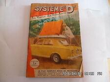 SYSTEME D N°195 MARS 1963 TENTE DE TOIT AUTOMOBILE CANTINE DE CAMPING    G64