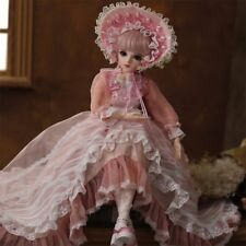 """22"""" 1/3 BJD Doll Handmade Girl Dolls + Free Clothes Shoes Removable Eyes Makeup"""