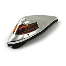 Parafango Anteriore Luce Antico Stile Cromato con orange per Harley - Davidson