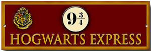 "HOGWARTS EXPRESS 9 3/4 METAL SIGN,HARRY POTTER,NOVELTY,MAGIC,SIZE 12"" X 4"""